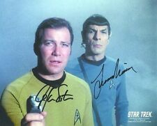 STAR TREK WILLIAM SHATNER & LEONARD NIMOY AUTOGRAPHED PHOTO  Kirk Spock SGN X 2