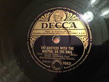 "ETHEL MERMAN ""The Hostess With The Mostes""/""Can You Use Any Money"" 10"" 78rpm EX+"