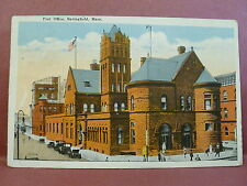 Old Postcard MA  Springfield Post Office