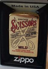 Zippo Lighter Scussors Tobacco Tin. Prototype Ultra RARE Only 2 Prototypes Made