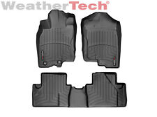 WeatherTech® Floor Mats FloorLiner - Honda Insight w/ Reten - 2010-2014 - Black