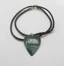 ASKING ALEXANDRIA guitar pick plectrum braided twist LEATHER NECKLACE 20""