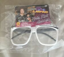 LMFAO Adult No Lens White And Black Frame Party Rock Costume Glasses Licensed