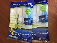 Free S&H X7 3 LARGE+4 MEDIUM VACUUM STORAGE BAG SPACE SAVER for Winter Clothes