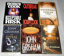 Lot of 6 Political Medical Thrillers John Grisham Robin Cook Terry Devane Appeal