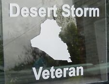 Patriotic Military Desert Storm Veteran Soldier White Oracal Vinyl Decal Sticker