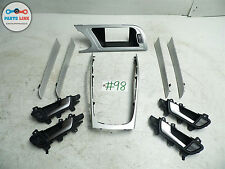 10 11 12 AUDI S4 B8 S-LINE BRUSHED ALUMINUM TRIM SET DOOR DASH OEM A4