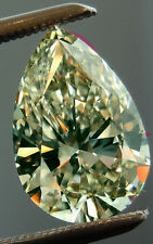 5.35 ct vs2/OFF WHITE YELLOW LOOSE PEAR REAL MOISSANITE FOR RING /PENDANT