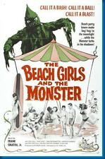 Beach Girls And The Monster Movie poster 24x36