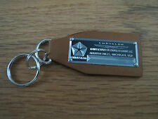 Chrysler Data Plate Leather Keychain 300 New Yorker Newport Imperial Lebaron C