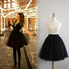 Womens Girls Princess Ballet 5 Layers Tulle Tutu Skirt Wedding Prom Rockabilly