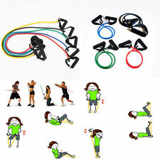 Colorful Fitness Equipment Elastic Resistance Bands Tube Exercise Band For Yoga