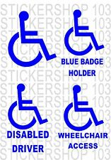 DISABLED  vinyl wall,car,van decal sticker PACK OF 4