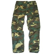 GREEN CAMO COMBAT TROUSERS boys 9-10 army soldier Military outdoor cargo pants