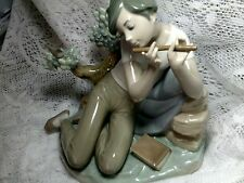 COLLECTOR'S LLADRO FIGURINE STUDENT FLUTE PLAYER ORIGINAL FROM FACTORY SPAIN