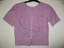HAMMERSCHMID Trachten - Bluse, Rosa kariert mit all over Stickerei Gr. 38 NEU