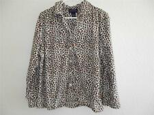 New Women's Charter Club Intimates Leopard Print Pajama Top Size M NWOT