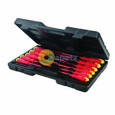 Electricians Screwdriver Set Tool Electrical Fully Insulated VDE 11 Pc with Case