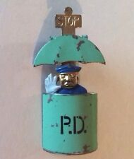 Rare 1930'S Police Officer P.D. Pin Brooch Mechanical Pop Up Hattie Carnegie