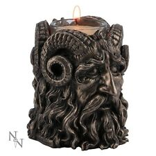 Superb Bronze Horned God Tealight Holder. Cernunnos/ Herne/ Pan. Nemesis Now.