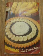 Bananas...How To Serve Them Recipe Booklet 1942 Edition