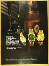 1994 Rolex Datejust Day-Date watches 1981 Cristal Champagne photo vintage Ad