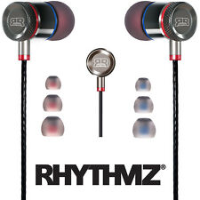 RHYTHMZ ® HD9 SmartTalk™ Earphones with Microphone + Volume Control (Titanium)
