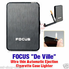 "UNIQUE - FOCUS ""De Ville"" ULTRA THIN AUTOMATIC EGECTION CIGARETTE CASE LIGHTER"