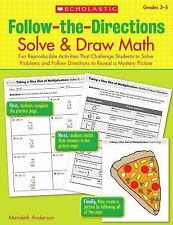 Follow-The-Directions: Solve and Draw Math : Fun Reproducible Activities That...