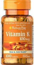 Vitamin K 100 mcg x 100 Tablets Bone & Joint Health - 24HR DISPATCH