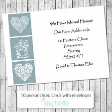Personalised Change of Address, Moving House Cards - Hearts First House