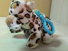 "Plush Leopard Cream Brown Black spots stuffed animal 4.5"" Plush toy Keychain"