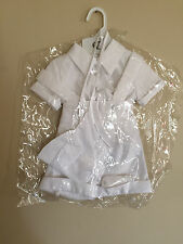 Baby Boy Angels White Christening Baptism Outfit Sz M Shortall