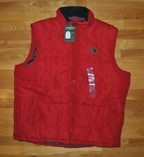 NWT MENS FIELD & STREAM Red Puffer Polyfill Vest Sherpa Lined Neck Sz XL