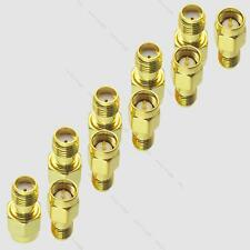 10pcs Gold Plating #L Adapter SMA Male Plug To SMA Male RF Connector Straight