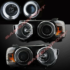 DUAL CCFL HALO PROJECTOR HEADLIGHTS BLACK FOR 2012-2015 CHEVROLET SONIC 4D/5D