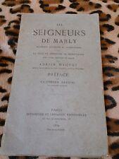 LES SEIGNEURS DE MARLY - Adrien Maquet - 1882 - Marly-le-Roi