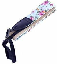 Eggsnow SLR DSLR Flower Camera Neck Shoulder Strap Floral Nylon Belt Light Blue