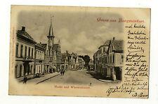 AK NRW Burgsteinfurt Markt Wasserstrasse 1899