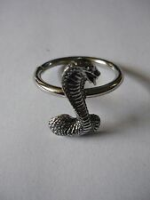 Snake Emblem Made From Fine English Pewter on a Scarf Ring codew10