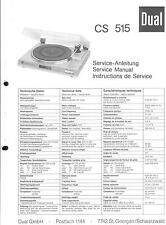 Dual Original Service Manual für Phono CS 515