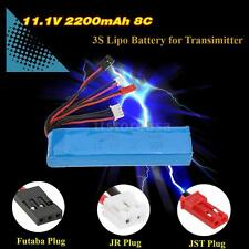 11.1V 2200mAh 8C 3S Lipo Battery fr JR Futaba Walkera RadioLink Transmitter L9D3
