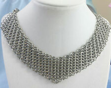 Stainless Steel European 4 in1 Chain Maille Choker Necklace USA Chainmaille