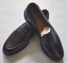POLO RALPH LAUREN SINGLETON BLACK CALF MEN'S PENNY LOAFERS MADE IN USA SIZE 9.5D