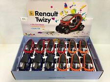 Renault Twizy, 12 Pcs of 1:18 Diecast Car, Pull Back Action, Kinsfun Toy, Party