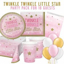 Party 1st Birthday Baby Girls Pink Twinkle Little Star Pack for 16 Guests