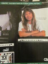 Dave Murray, Iron Maiden, Crate Amplifiers, Full Page Vintage Promotional Ad