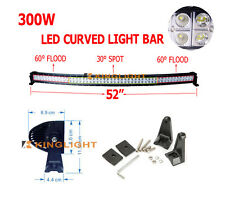 52inch 300W Curved LED Work Light Bar Flood Spot Offroad 4WD SUV UTE 50/54""