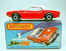 Matchbox SF Nr. 1C Dodge Challenger rot/weiß dot-dash Räder in Box