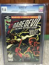Daredevil #168 CGC 9.6 NM+ 1981 1st Elektra! Netflix! White Pages! F4 103 cm